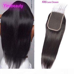 페루 인간의 머리카락 4x6 레이스 폐쇄 중간 3 개의 무료 부분 스트레이트 바디 웨이브 6 * 4 레이스 폐쇄 아기 머리 yirubeauty