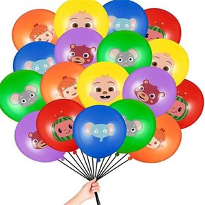Cocomelon jj melão tema decorações balão desenhos animados bebê família decorativo balão de látex Define acessórios de ornamento de festa de aniversário G31803