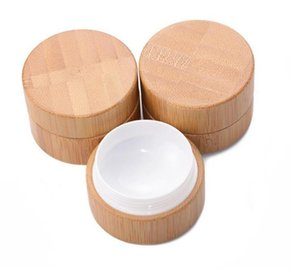 2021 5g 10g High Qualtiy Bamboo Bottle Cream Jar Nail Art Mask Cream Refillable Empty Cosmetic Makeup Container Bottle