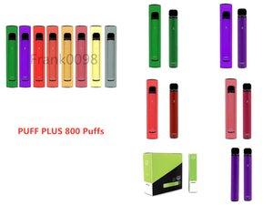 Puff Plus E cigarette Disposable Pod Device Kit 300 Puffs 550mAh Battery 3.2ml Prefilled Cartridge Stick Vape Pen Vs Flex Bang