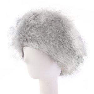 Womens Faux Fur Fur Winter Diadema Mujeres Lujosa Moda Head Wrap Pelush Earmuffs Cubierta Accesorios para el cabello RRA2150 446 K2