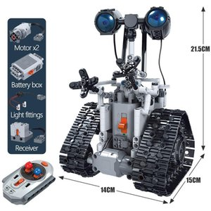 Mini Children's Electric Remote Control Robot Assembling Technology Building Blocks