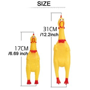 31 سنتيمتر 17 سنتيمتر يصرخ الدجاج ضغط الصوت الحيوانات لعبة المنتج الكلب صاخب أداة الضغط مضحك