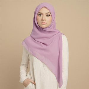 Scialle in chiffon della sciarpa turbante da donna alla moda 36 colori