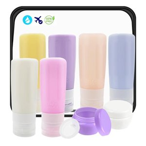 Bathroom Storage & Organization Travel Bottles Set Women Refillable Silicone Cosmetic Bottle Leakproof Face Cream Lotion Empty Squeeze Conta