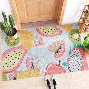 Carpets Fruit Printed PVC Entrance Doormat For Indoor Non Slip Bathroom Carpet Rugs Welcome Mat Front Door Oilproof Kitchen Area Rug