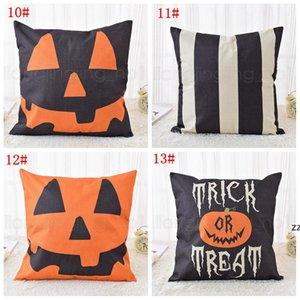 13styles Halloween Linen Pumpkin Pillow Case Trick Pillow Cover Car Sofa Cushion Cover Home Decor Halloween props 45*45cm HWD10647