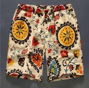 Men Swim Shorts Pure Cotton Flax Swimming Shorts For Men Beach Shorts SPA Swimsuit Beach Pants Board Short Surf Pants Swimwear