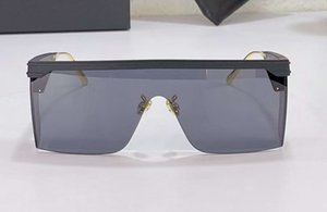 Flat Top Rectangle Sunglasses Matte Black Frame Grey Lens unisex Fashion Glasses Shades for men Sonnenbrille gafa de sol With Case