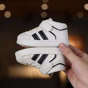 1 to 3 Years Old Baby Walking Shoes Toddler Boy Stripes Sneakers Luxury Designer Shoes for Girls Kids Child Casual Shoes D12012