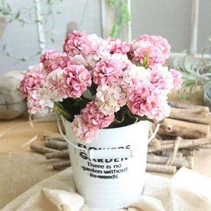 Yapay İpek Ortanca Sahte Çiçekler Buket Demet Ev Kalite Dekorasyon Parti Dekor Şakayık Yüksek Düğün Akışı U0E5 Dekoratif Çelenkler
