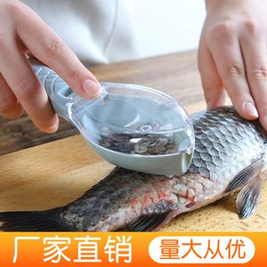tools with cover Household fish scale planer scraper hand scaler kitchen utensils