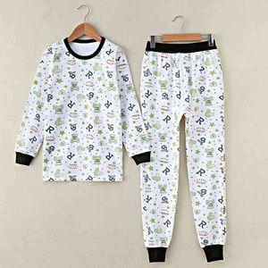 Pijamas infantiles GB-Kcool Boys Ropa interior térmica O-cuello y pantalones suaves algodón niños largos johns primavera otoño niños fondo ropa de dormir