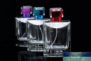 1 ADET Cilalı Cam Parfüm Şişesi Tasarım 100ml Boş Parfüm Atomizer Kabı Sarin Cap Yüksek Kalite PACKA