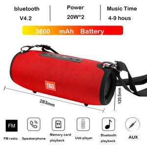 TG118 Yüksek Güçlü 40 W Bluetooth Hoparlör Bas Taşınabilir Sütun Kablosuz Stereo Subwoofer Müzik Oynatma Merkezi 3600 mAh pil Soundbox TG125