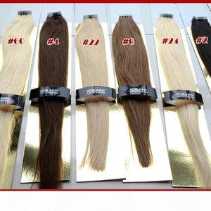 XCsunny Malaysian Jungfrau Menschliches Band Haarverlängerungen 40 Stück Band Haar gerade 100g Menschliches Haarband in Erweiterungen