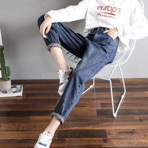 jeans Korean Dad Women's Loose Bf Harlan Wide Leg Spring and Autumn Thin Radish