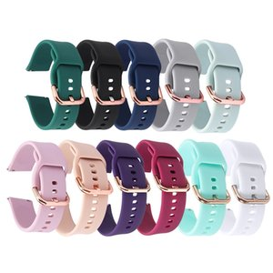 20mm Smart Watch Strap Adjustable Watchband Replacement For Samsung Galaxy Watch Active 2 Silicone Band Watch Accessories