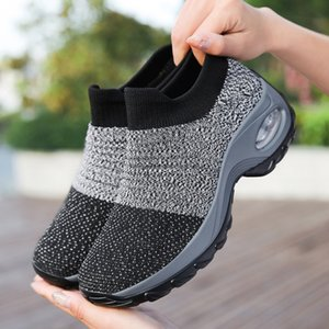 Women's 1839 Large Shoesdesigners Casual Rocking One Foot Pedaling Air Cushion Dance Socksdesigners Shoes ZNSP