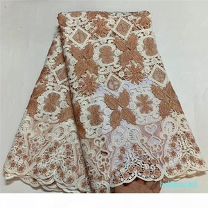 Wholesale-2020 Skin friendly Top Class Neat embroidery Guipure lace Very soft African cord fabric Nigerian Ghana celebration sewing gown