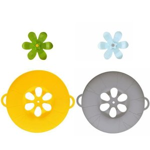 Parts Cookware Kitchen, Dining Bar Home & Garden26*30Cm Cooking 3D Flower Spill Stopper Anti-Overflow Splash Sile Er For Pan Kitchen Aessori