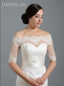 Wraps & Jackets Ivory Half Sleeve Wedding Jacket Lace Bridal Bolero Shrugs Capes Stock One Size 2021 Appliques Accessory