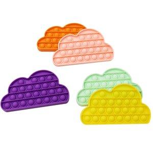 Дети Fidget Toys Sensosory Push Bubble Board игра Облака Сенсорная игрушка аутизм Особые потребности для детей взрослых декомпрессия G31904