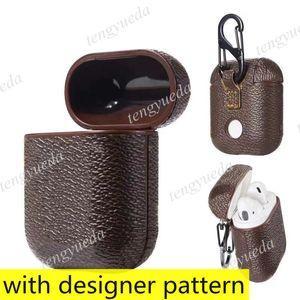 Fashion Designer AirPods Case Для наушников Pro 1 2 Высококачественная буква Case Printed Hard Protection Protection Пакетные сумки