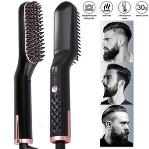 Hair Straightening Irons Beard Grooming Kit Boy Multifunctional Men Beard Straightener Styling Professional Brush Hair Hot Comb