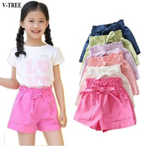 Shorts Summer Girls Candy Color Boardshorts Kids Cotton Children Pants Beach For Baby 2-8T