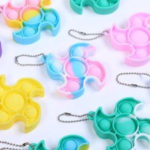 Halloween Sensory Toy Push Its Pops Bubble Keychai Decompression Fidget Toys Push Bubble Anti Stress Children Adults wholesale