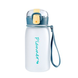 Frosting Plastic Water Bottle with Drinking Straw Travel Portable Handle Rope Reusable Water-bottle