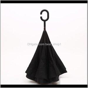 Umbrella Double Reverse Design Waterproof Hit Cloth C Handle Multicolor Sun Inverted Outdoor Sunscreen Kccy1 Phqzc