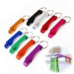 휴대용 맥주 병 오프너 Keychain 4 in 1 포켓 알루미늄 병 오프너 수 9 색 결혼식 파티 선물