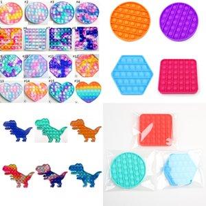 SENSOY PUSH POO - Его Формовый пузырь Toy Files Fun Squeze Game Простые подтягивания стресса Пузырьки головоломки галстук-красительную площадь динозавра H32RH11