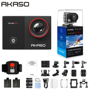 AKASO 4K Action Camera EK7000 Pro Touch Screen Sports Camera EIS Adjustable View Angle 40m Waterproof Camera Remote Control 210319