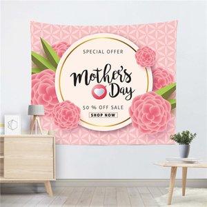 Día madre Tapices de poliéster Sala de estar Decoración Fondo Dormitorio Murales Impresión Manta Fiesta de cumpleaños Boda Decoración del hogar