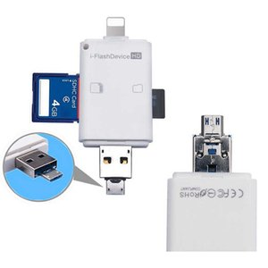 3in1 i Flash Device USB OTG Micro USB SD SDHC TF Card Reader for iPhone 12 11 Pro X XS MAX XR 6 7 8 plus For ipad Android Phone
