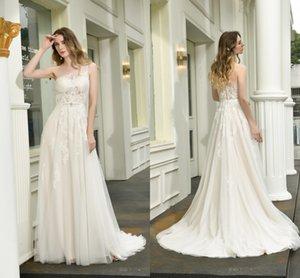 Charming One Shoulder Wedding Dresses Bridal Gowns Beach Lace Appliqued Fashion Elegant