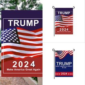 30*45cm Trump 2024 Flag MAGA KAG Republican USA Flags Anti Biden Never BIDEN President Funny Garden Campaign Banner G31701