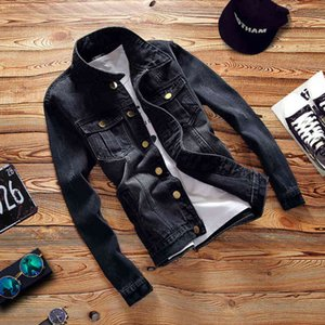 Men's Jackets Denim Outerwear Autumn Youth Fashion slim Label Casual Jacket Coat For Clothes IEYN