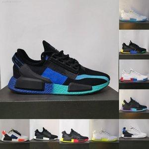 2021 Dazzle Camo Nmd R1 V2 Mens Running Shoes Aqua Tones Ciudad de México Munich Black Munich Hombres de Alta Calidad Mujeres Entrenadores al aire libre Deportes Zapatillas deportivas