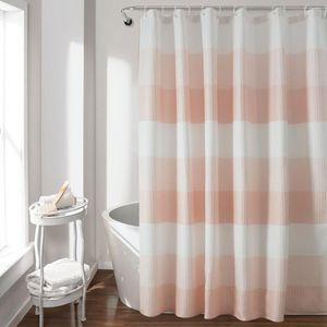Shower Curtains Creative Amazon Fashion Polyester Luxury Modern Customized Size High Quality Stripe Waffle Curtain