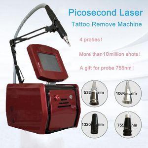 Machine PicoSecond Pico Laser FDA Peau Rajeunissement de la peau Machines portables 4 Sondes 10 000 000hots