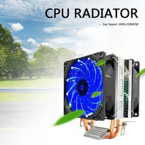 Desktop CPU Dual Lüfter 2 Wärmerohre Computerkühler Kühler für Intel AMD Video Graphics Card Wasserventilatoren Kühlungen