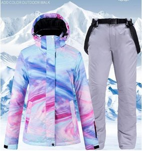 Skiing Jackets High Quality Womens Ski Suit Winter Outdoor Snowsuit Windproof Waterproof Jacket And Pants Snowboard Colorful Clothing