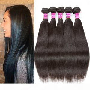 New Arrival 8a Malaysian Remy Straight Human Hair Weaves 5 Bundles 8-26 Inches Brazilian Peruvian Malaysian Indian Straight Hair Extensions