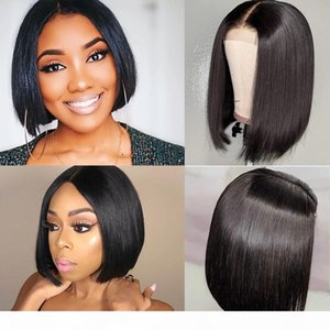 Meetu 2x6 Bob Lace Closure Wigs Brazilian Virgin Hair Straight Lace Frontal Human Hair Wigs Swiss Lace Frontal Wig Pre Plucked