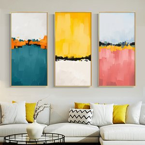 Abstract Colorful Landscape Canvas Painting Wall Art Pictures For Living Room Bedroom Entrance Decorative Picture