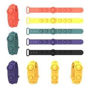 푸시 Fidget Toys Sensory ring 팔찌 압축 해제 키 체인 퍼즐 프레스 손가락 거품 스트레스 팔찌 팔찌